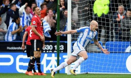 Man Utd shocked by Huddersfield, City go 5 points clear, Chelsea beat Watford
