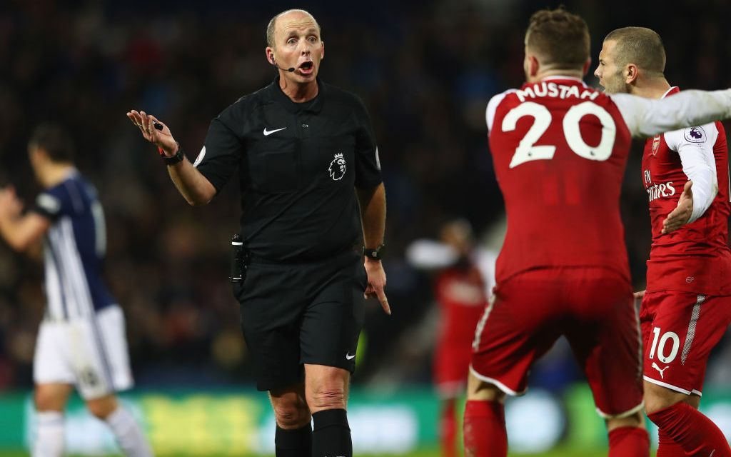 "Mike Dean ""admitted he was wrong"" to give West Brom a penalty vs Arsenal"