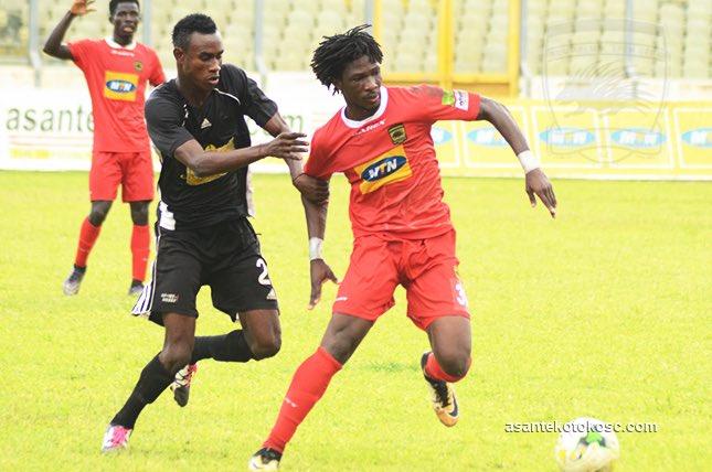 Hearts of Oak 0-2 Asante Kotoko- Songne Yacouba brace seal win against 10-man Hearts