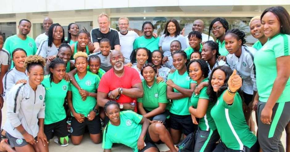 AWCON 2018: NFF capo Amaju Pinnick dedicates Falcons' trophy to President Buhari