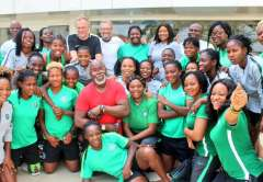 AWCON 2018: NFF capo Amaju Pinnick dedicates Falcons' trophy to President Buhari