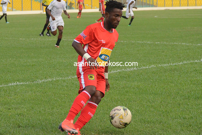 Maxwell Baakoh resumes full training with Asante Kotoko