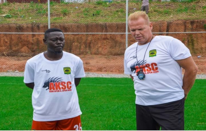 Pictures: Asante Kotoko first training session under new coach Zachariassen