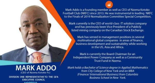 Profile of Mark Addo - the new Ghana FA Vice-President