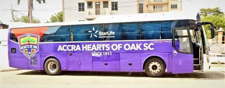 Hearts of Oak acquire new 48-seater bus