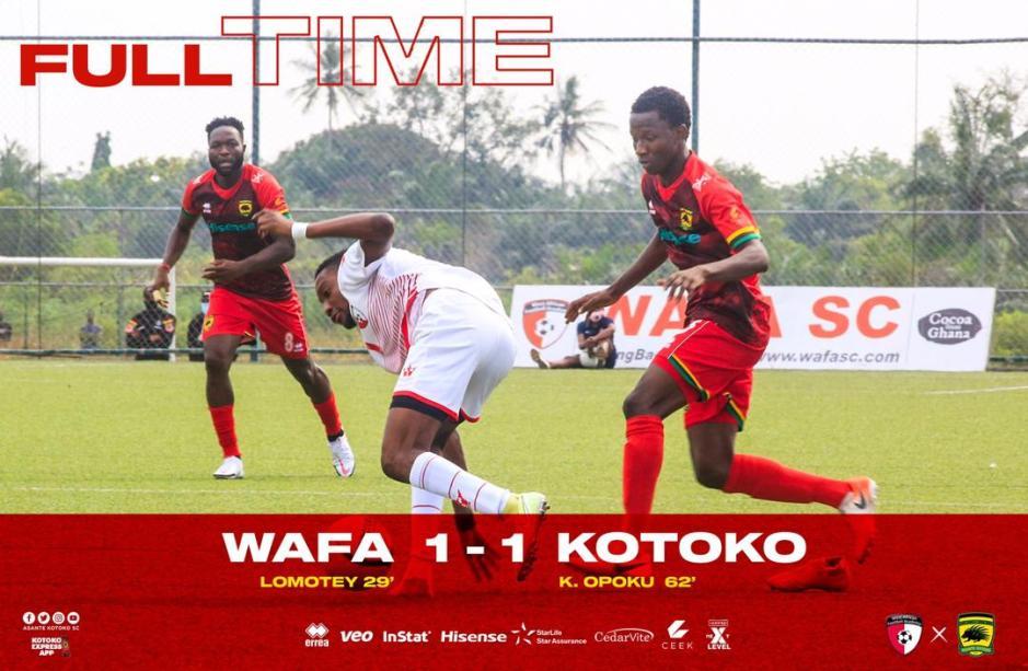 Watch Highlights : WAFA SC 1-1 Asante Kotoko | Ghana Premier League