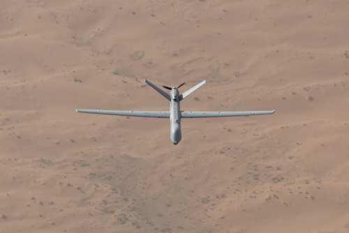 طائرة درون فرنسية تقوم بعملية استطلاع (الجيش الفرنسي)