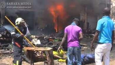 حريق سابق وسط العاصمة نواكشوط (أرشيف صحراء ميديا)