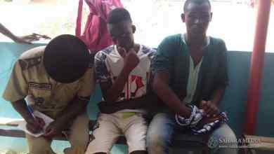 الشرطة رفقة المصابين في الحادثة (صحراء ميديا)