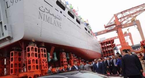 ولد عبد العزيز زار السفينة خلال تصنيعها في الصين
