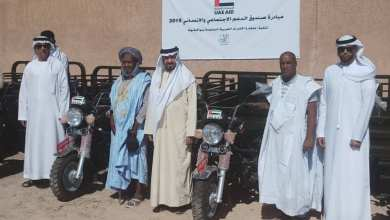 Photo of سفارة الإمارات توزع عربات ثلاثية العجلات على محتاجين