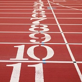 colour image of Running track
