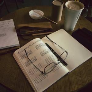 Bullet Journal - Journal de bord en préparation