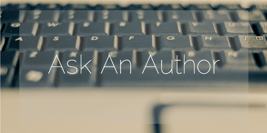Sahar's Blog Ask an Author Header by Chad Mauger