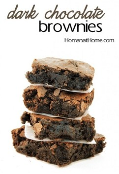 The Homans' Dark Chocolate Brownies Template on Sahar's Blog