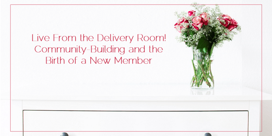 Sahar's Blog 2016 06 03 Live From the Delivery Room! Community-Building and the Birth of a New Member