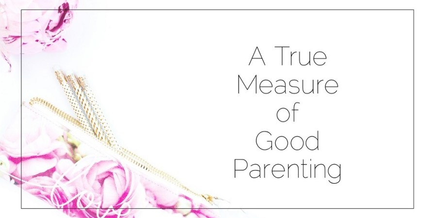 Sahar's Blog 2017 05 26 The true measure of good parenting Header