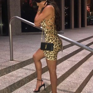 Wild Strappy Leopard Mini Dress