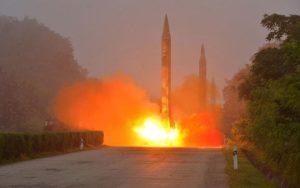Image result for North Korea fires ballistic missile into Japan