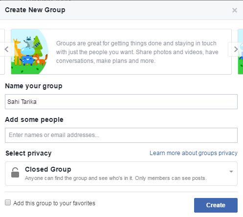 Facebook pe group kaise banaye