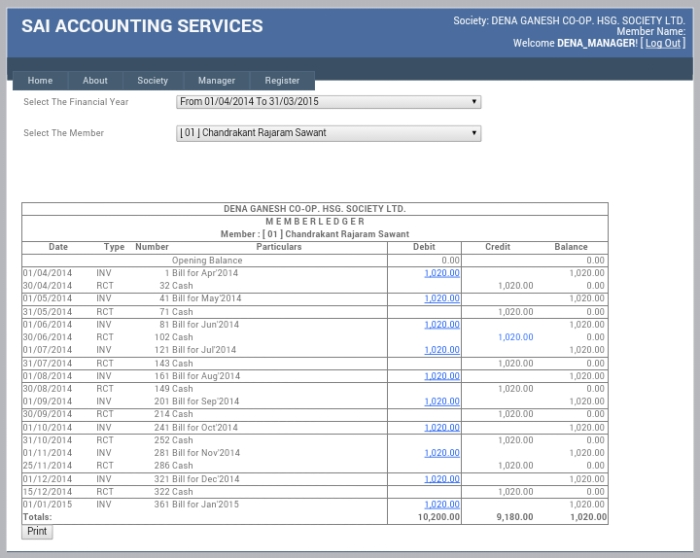 Accounting Services for Housing Society in Thane