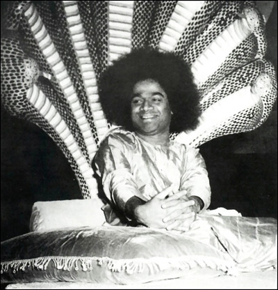 Serpent bed in Sai baba's bedroom representing his claim to be Vishnu who reclined on a bed of serpents in heaven