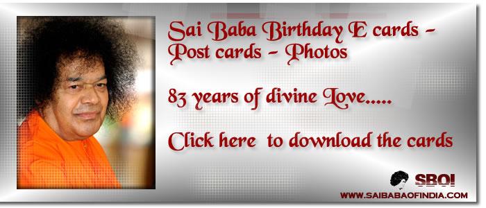 Sri sathya sai baba birthday celebrations sboi group m4hsunfo