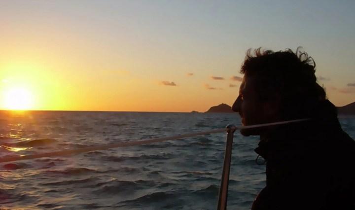 Sono sempre per mare.