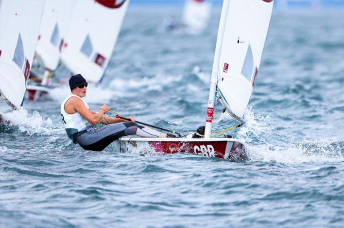 Ali Young on Tokyo 2020 Olympic Sailing Competition Day 3 - photo © Sailing Energy / World Sailing