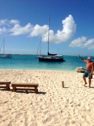Archie on the beach.