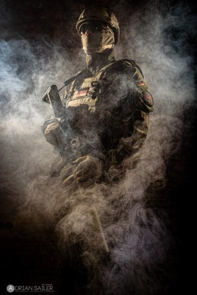 Soldat im Nebel