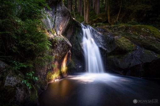 Wasserfall Langzeitbelichtung Schwarzwald