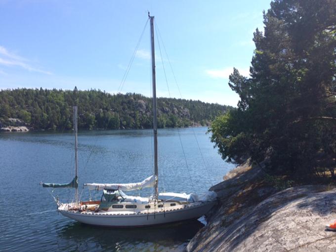 Idyllic? Bows to the rocks in Napoleonsviken