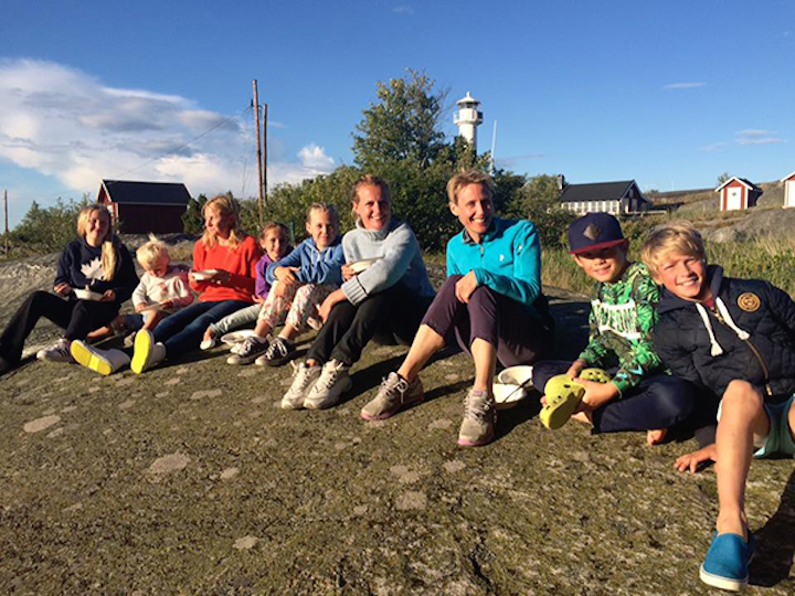 back to basics: this family vacations on Huvudskar for two weeks every year to 'detox' from modern life