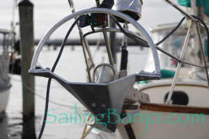 Our New Mantus Anchor installed on SV Banjo