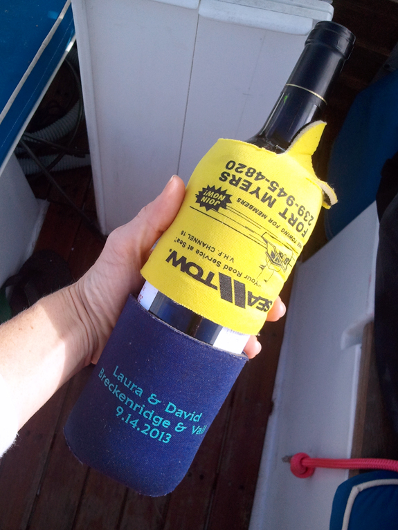 Can coozies are a great way to keep wine bottles safe.