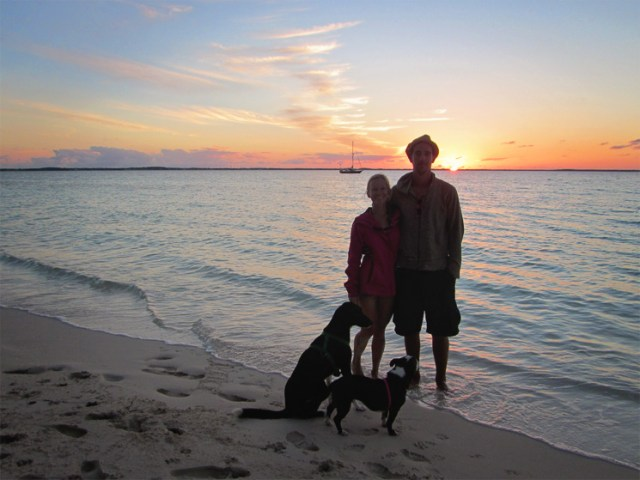 Our first family photo in the Bahamas