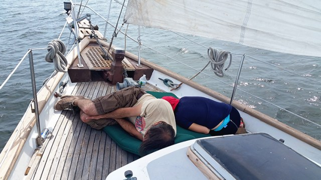 Geez, we invite these clowns for an adventure and this is how they spend the sail?
