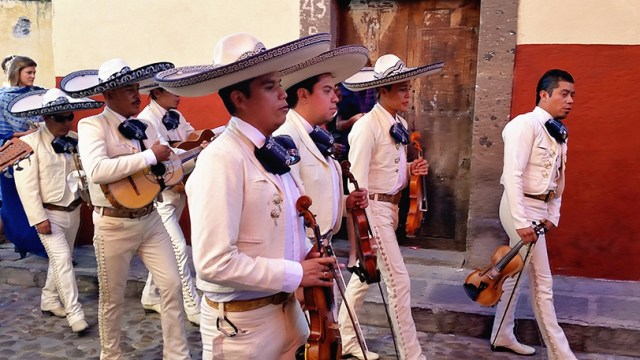 What is a wedding parade without a Mariachi band?