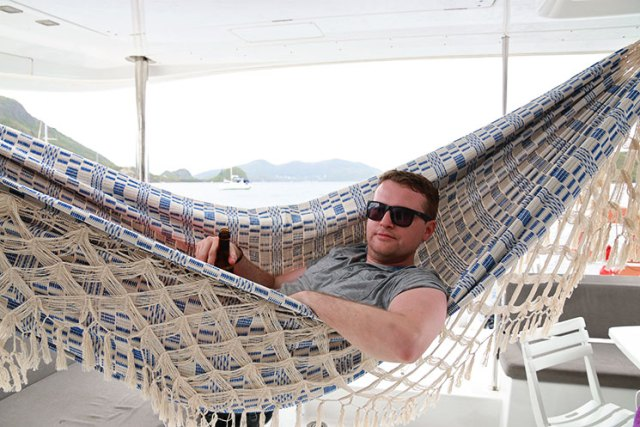 Hammocks are a great addition to boats