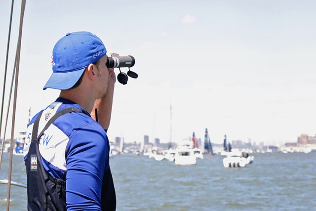 Maven binoculars give a crystal clear view of the America's Cup