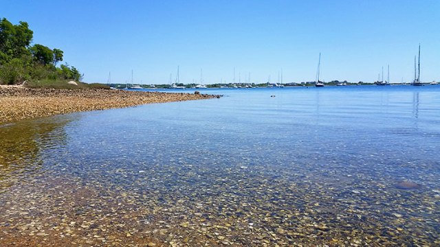 The Great Salt Pond in Block Island.