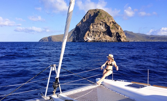 Martinique is a beautiful place to sail