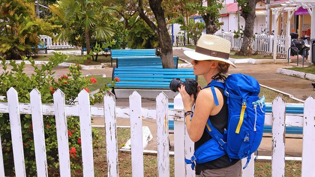 My Frankie hat keeps me protected as I explore Guadeloupe.