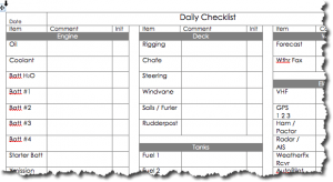 checklist for your maintenance log book