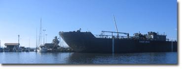 Fuel Barge at Kaunakakai Harbor Dock