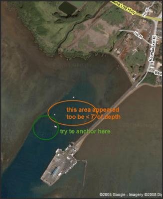 Anchoring in Kaunakakai Harbor on Molokai