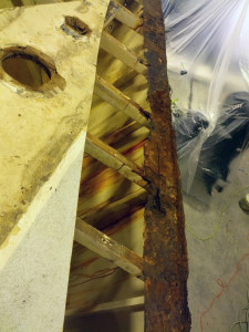 Steel as a boat material - watch out for deck joint corrosion