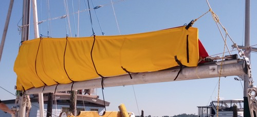 Side, Aft view of Completed Sail Pack