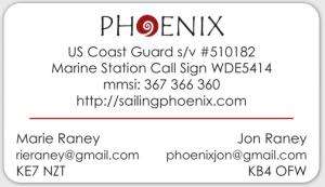 Phoenix Boat Card